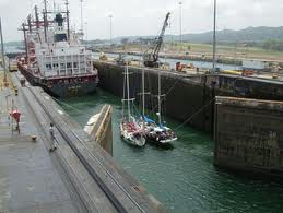 Sharing the Locks in the Panama Canal