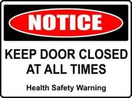 """Why'd they even make the door if they didn't want it used?  But maybe this is actually healthy advice.  No one wants to hear: Knock-knock. """"Who's there?"""" AIDS."""