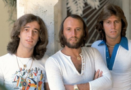 Robin (left) and Bee Gees in 1976