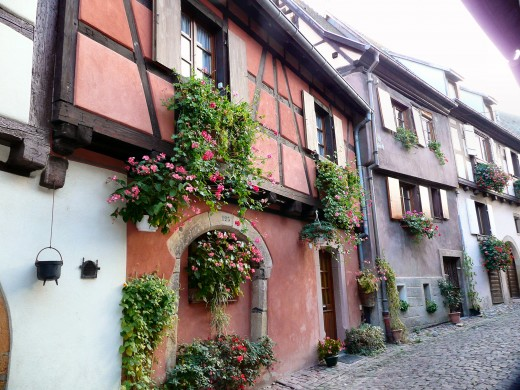 Typical street in Eguisheim