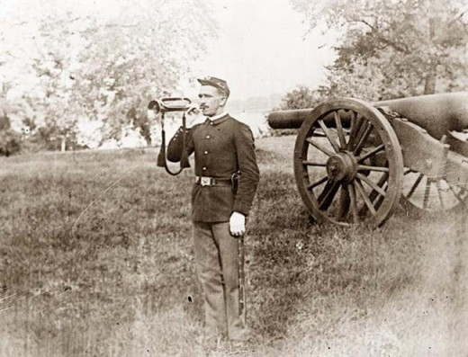 A Civil War bugler
