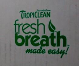 The logo for Tropiclean's Fresh Breath line