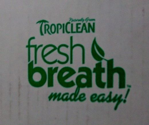 The logo for Tropiclean's Fresh Breath line