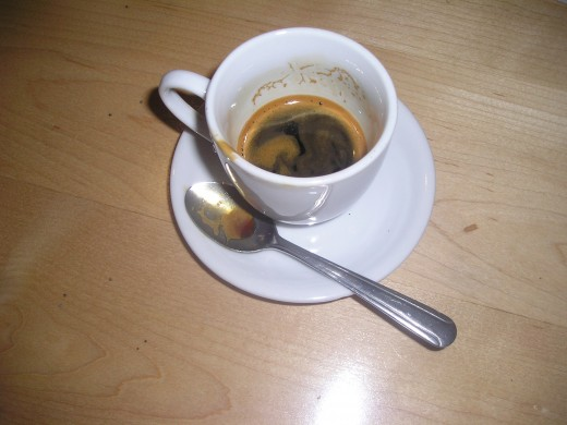 My double shot espresso, two lumps of sugar. The real thing, here, my friends.