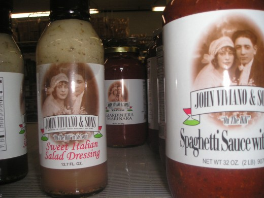 The Viviano's themselves grace the labels of their own sauces-