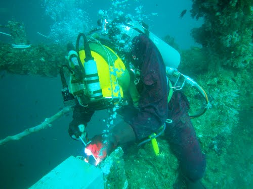 Commercial diving mixes a love of diving with a great career