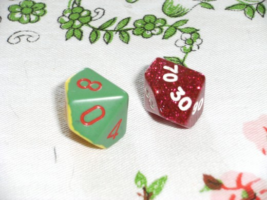 Usually two D10's with one dice's number in the ten's. Used to determine treasure and also random encounters.