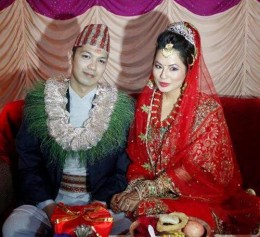 Malvika Subba and her husband