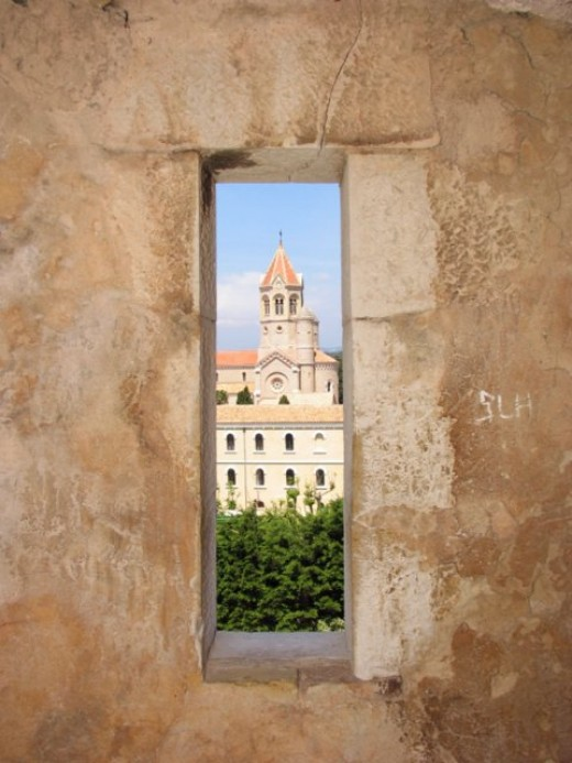 Monastery church from tower