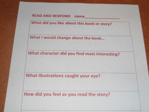 READ AND RESPOND FOR OLDER KIDS