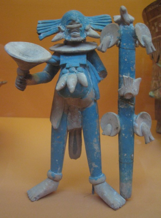 Mexico, Campeche, Jaina, Maya Masked Male Figure, A.D. 700-900 Sculpture