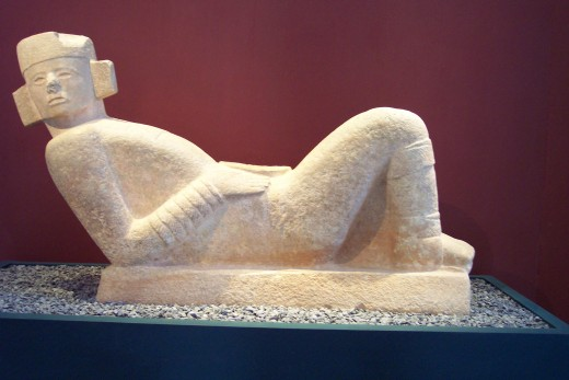 Chac Mool was one of the most common figures in Mayan sculpture. It was used to receive human sacrifices.