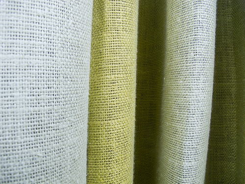 Choose natural fibers for upholstery, bedding and curtains.