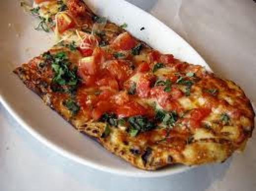 Fuzio's fire-roasted pizza