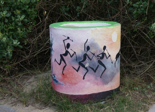The Rubbish Bins have an African motief