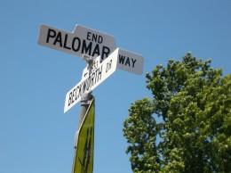Street sign:  Palomar Way