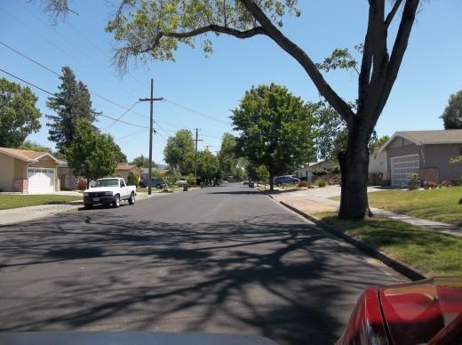 View looking East on Palomar Way.
