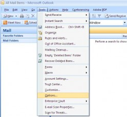 How to Add a Signature in Outlook 2007