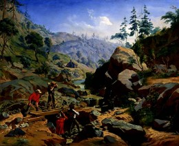 """""""Miners in the Sierras"""" (1851-1852) by Charles Christian Nahl"""