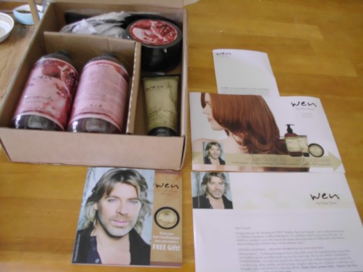 personal image taken when I received the Wen products for the first time.