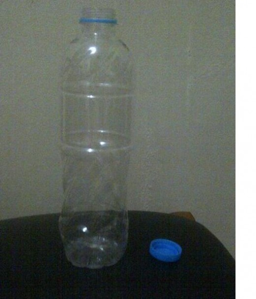 Picture 1: A clean, used plastic bottle.