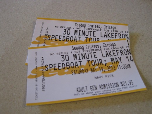 Speedboat Tour Ticket Stubs