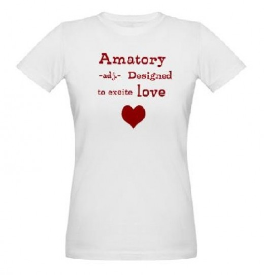 A definition of amatory: Designed to excite love