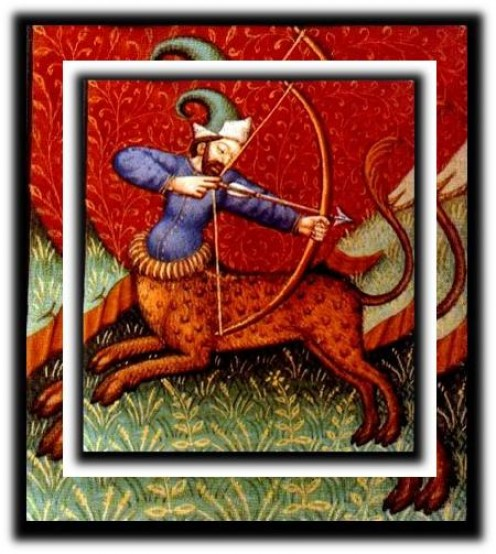 The Astrological symbol for a person born with the Sun in the constellation Sagittarius is the Archer.  This could help understand the Sagittarian's need for adventure, travel, and to conquer new experiences.