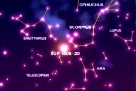 Glancing at the sky at night may show you the constellations of Sagittarius, placed between the constellations of Scorpius and Capricorn.  This, of course, depends on your location and the time of year.
