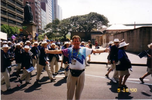 me  during the Volunteers Parade of Honour Sydney200 Olympics 5.10 2000