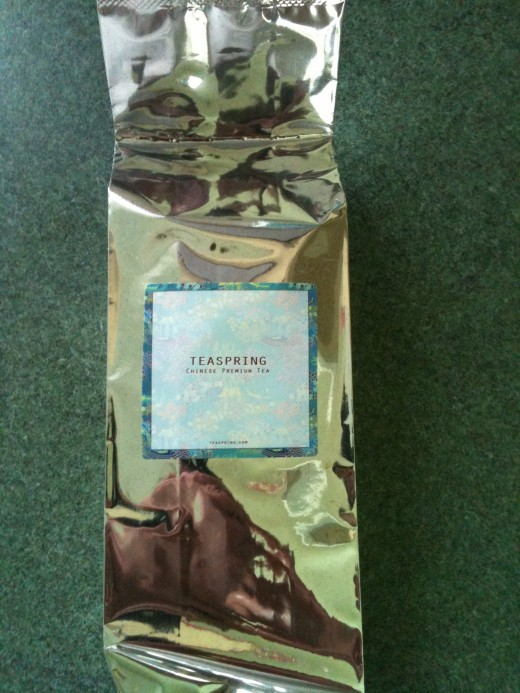 A pack of Teaspring's beautiful Meng Ding Ganlu Green Tea