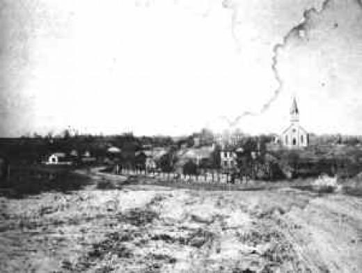 Praha in the 1890's Courtesy Institute of Texan Cultures, San Antonio, Texas