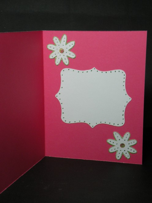 Inside of Happy Birthday card