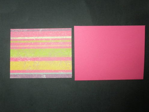 Cardstock background and card base
