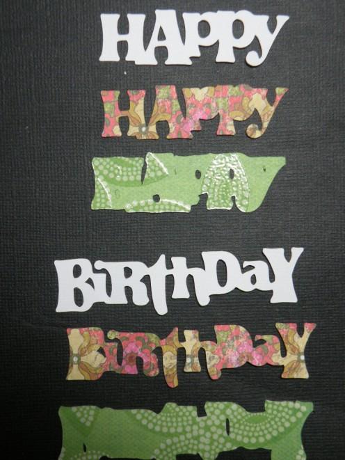 Happy Birthday phrase layers