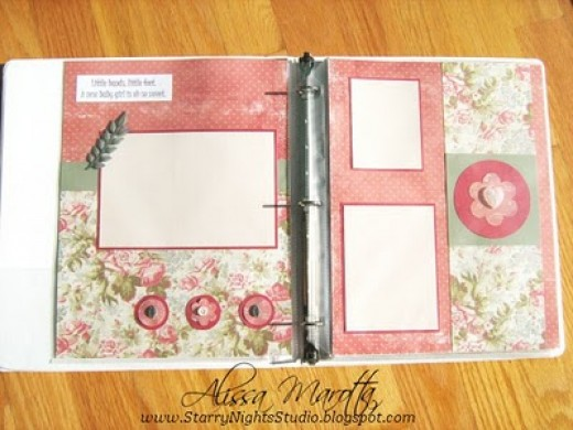 Traditional, paper-based scrapbook pages