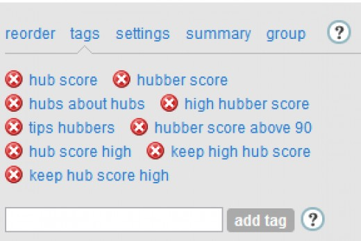 """""""Hubs about hubs"""" is the tag I use on hubs that talk about hubs!"""