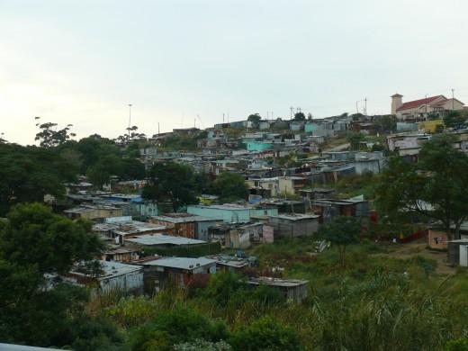 Gompo Informal Settlement in East London