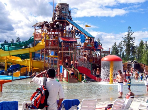 Boulder beach water park is inside the silverwood theme park
