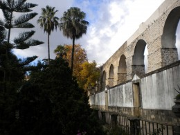 Botanical garden and the aqueduct