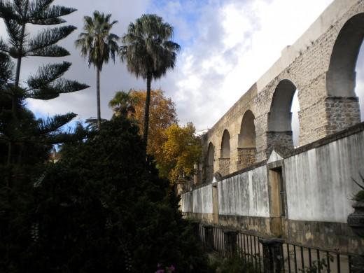 Botanical garden and the aqueduct