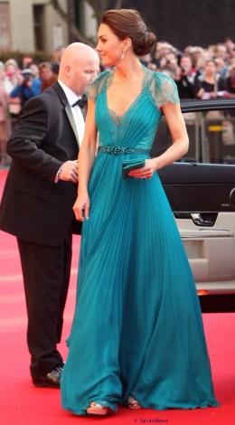 Teal Jenny Packham dress