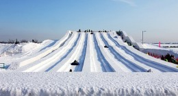 A Snow Slide in the Snow Festival!