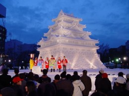 One of the fantastic Ice Sculptures at the Sapporo Festival