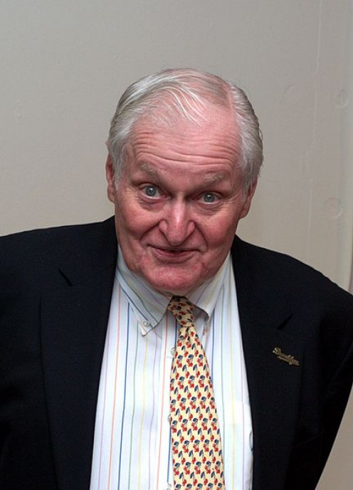 "John Ashbery, author of ""Farm Implements and Rutabagas in a Landscape"""