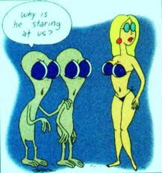 Little green men figure out the opposite sex