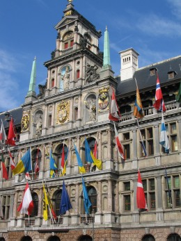 Frontage detail, Antwerp City Hall, Grote Markt, Antwerp