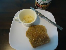 "Wheat grain toast with ""Coconut Honey Butter"""