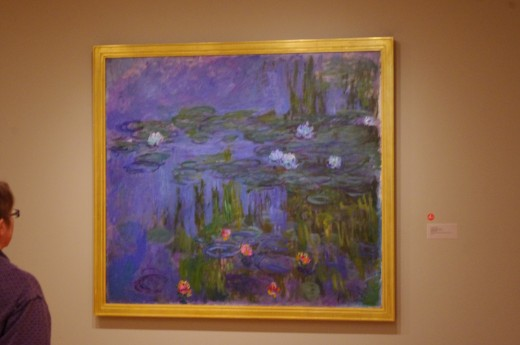 "Monet's Water Lilies at what I call the ""Coalescent Distance"" ~ When the painting comes together as the artist intended."