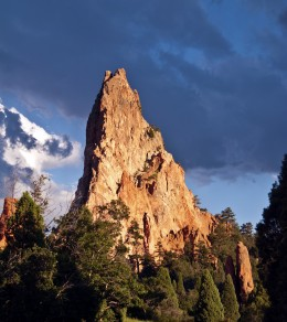 Peak in Garden of the Gods, Colorado Springs.